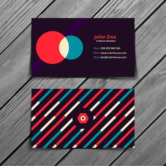 Retro Colorful Business Card Template