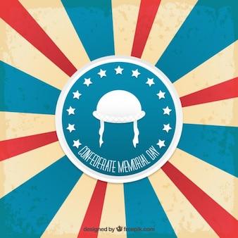 Retro confederate memorial day backgound