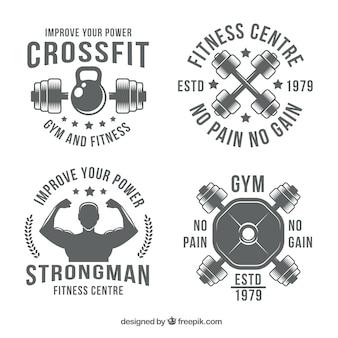 Retro crossfit stickers pack