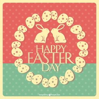 Retro Easter vector