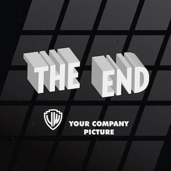 Retro End Credits Background