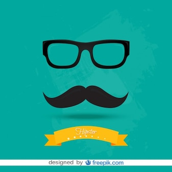 Retro Fashion Hipster Look Vector