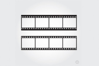 Retro film strip cut out ready