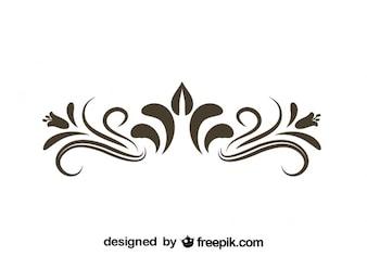 Retro Floral Decorative Graphic Element