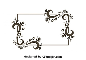 Retro Floral Frame Design