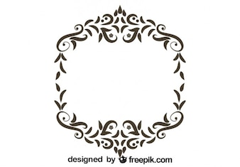 Retro Floral Frame Ornamental Design
