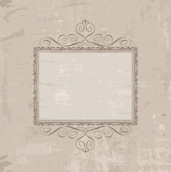Retro frame in grunge background