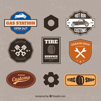 Retro garage badges