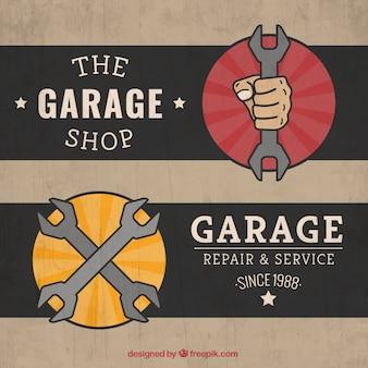 Retro garage labels