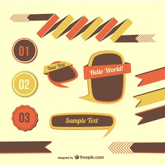 Retro graphic elements