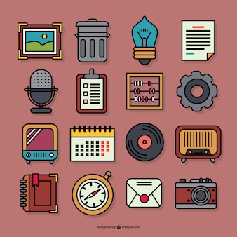 Retro graphic icons