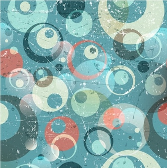 Retro grunge background with circles