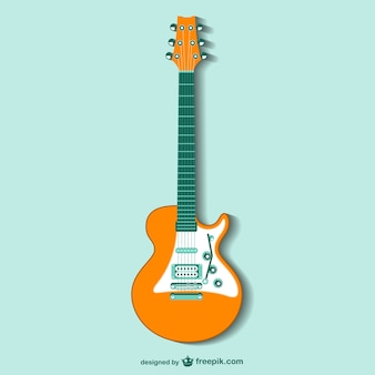 Retro guitar vector