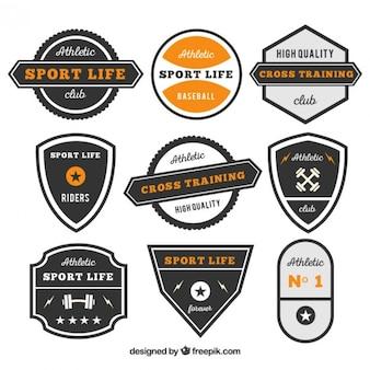 Retro gym badges