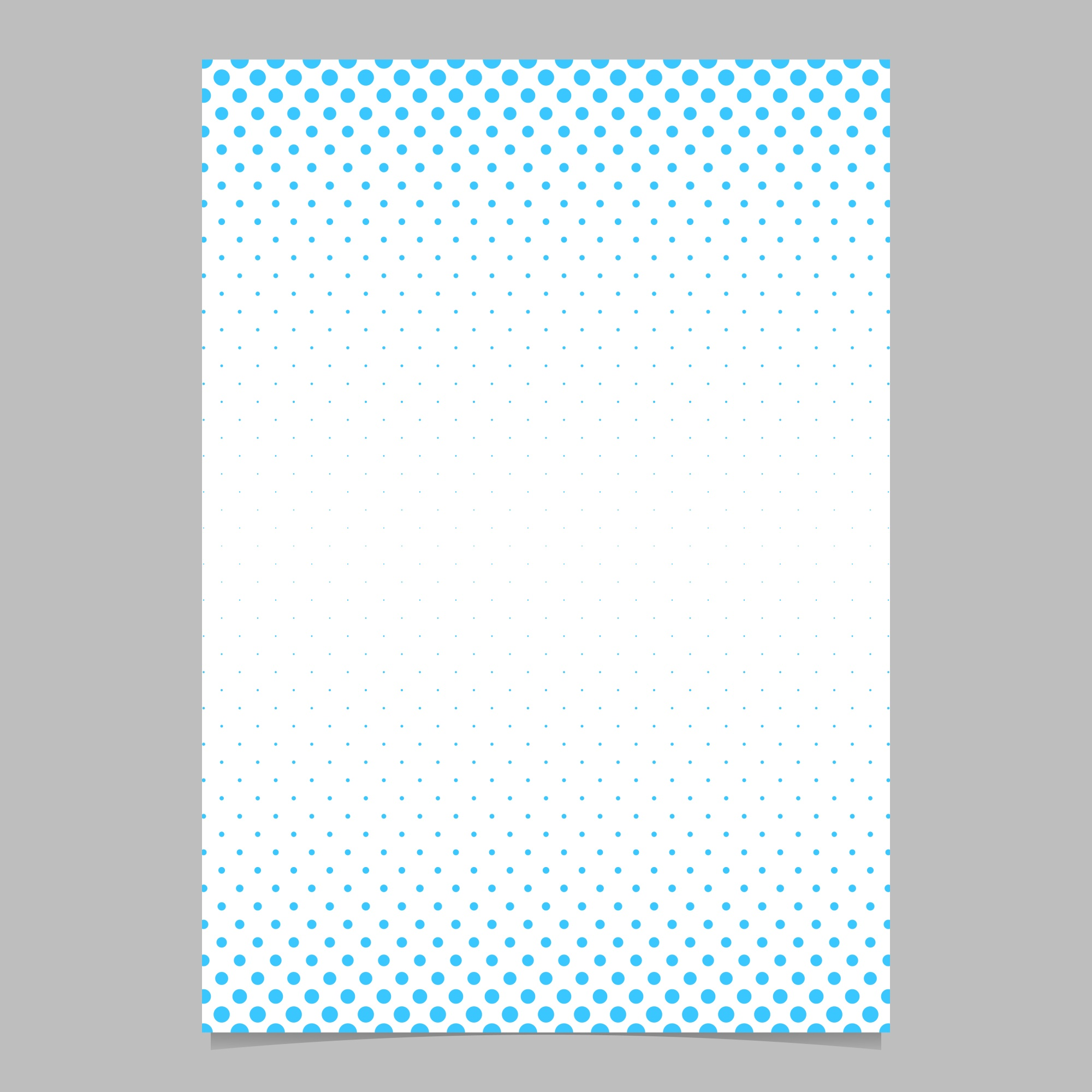 Retro halftone dot pattern brochure template - vector poster background illustration with circle pattern
