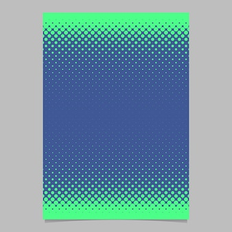 Retro halftone dot pattern flyer background template - vector document, brochure graphic with circles