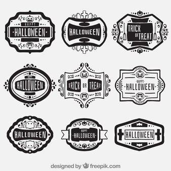 Retro halloween badges