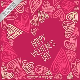 Retro happy valentine day background