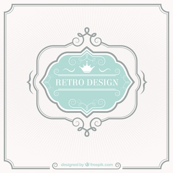 Retro label design
