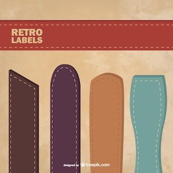 Retro leather labels set