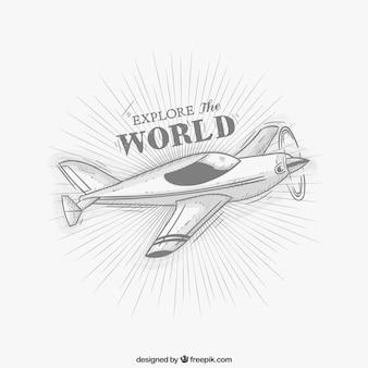 Retro light airplane