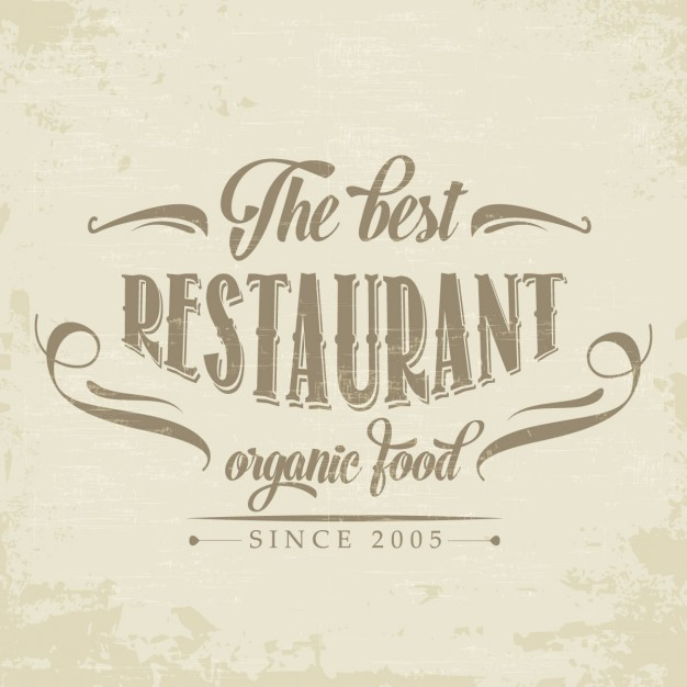 Retro logo for a restaurant
