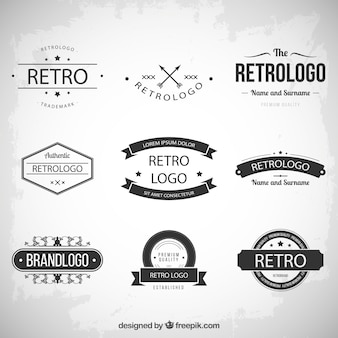 Retro logos collection
