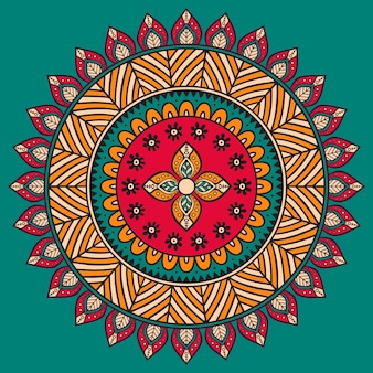 Retro mandala illustration