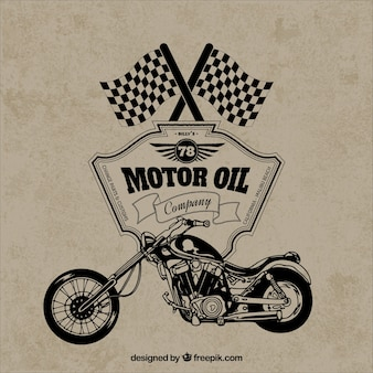 Retro motorcycle badge