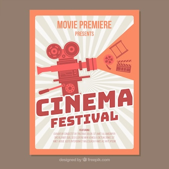 Retro movie festival poster