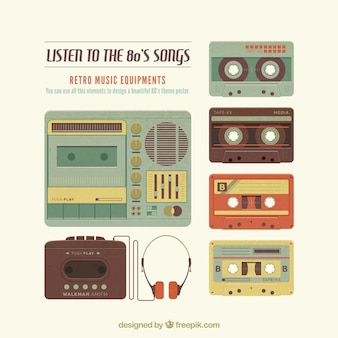 Retro music elements