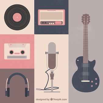 Retro music instruments