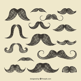 Retro mustaches collection