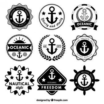 Retro nautical badges