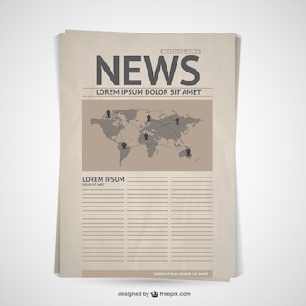 Retro newspaper vector
