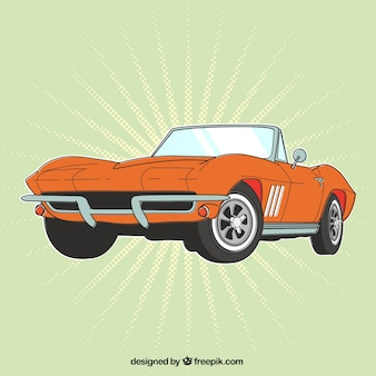 Retro orange car