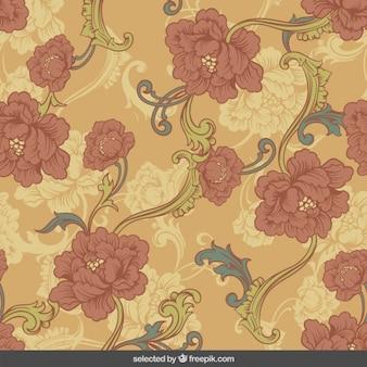 Retro ornamental flowers background
