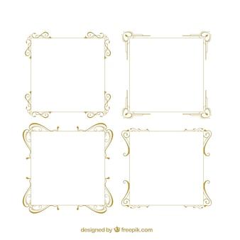 Retro ornamental frames pack