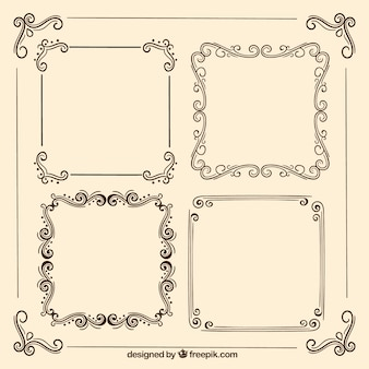 Retro ornamental frames
