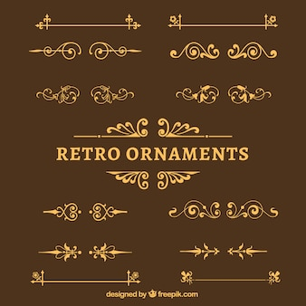 Retro ornaments pack