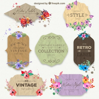 Retro paper labels