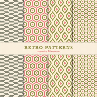 Retro patterns of geometric shapes