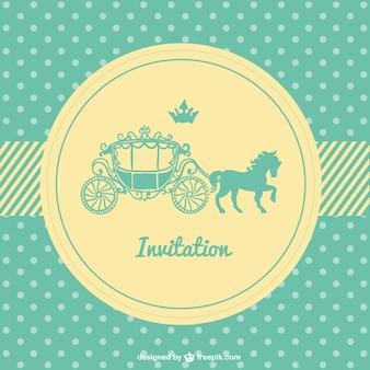 Retro polka dots wedding card