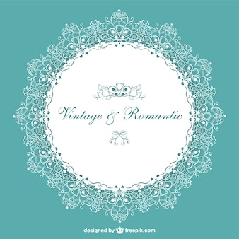 レトロロマンチックな結婚式の招待状