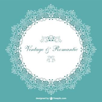 Retro romantic wedding invitation