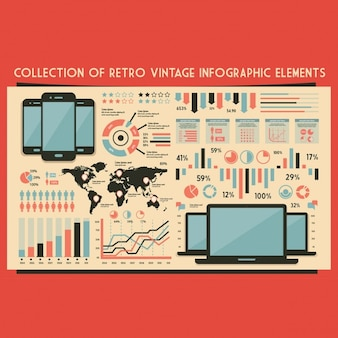 Retro set of infographic elements