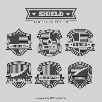 Retro shield logos