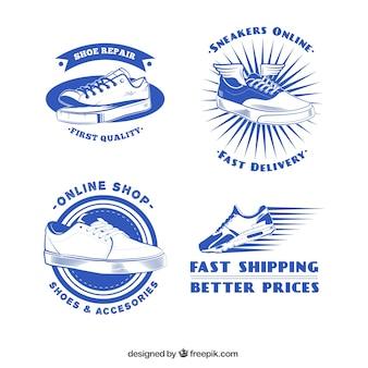 Retro shoe shop badges