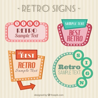 Retro signs pack