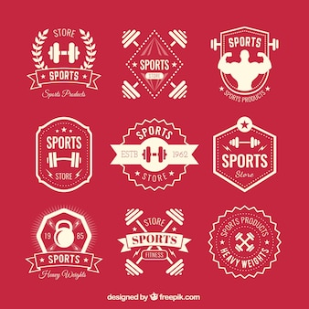 Retro sport badges